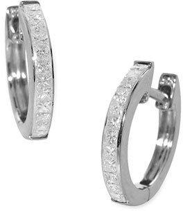 Nordstrom Bony Levy Diamond Hoop Earrings Exclusive)