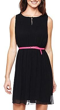 JCPenney Worthington® Pleated Keyhole Dress - Petite