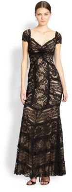 Nicole Miller Lace Sweetheart Gown