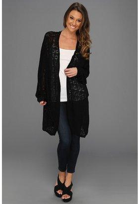 Rachel Pally Slouchy Sweater Jacket (Black) - Apparel