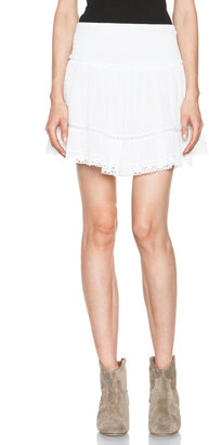 Etoile Isabel Marant Gabriel Cotton Voile and Lace Skirt in Blanc