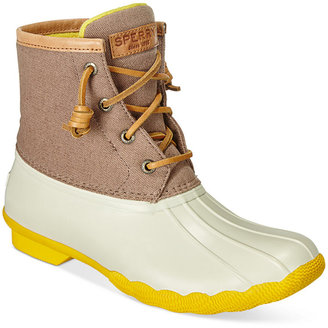 Sperry Women's Saltwater Duck Booties $120 thestylecure.com