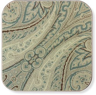 Williams-Sonoma Paisley Printed Floral Hard Coasters, Set of 4