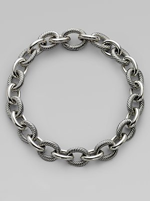 David Yurman Sterling Silver XX Large Oval Link Chain Necklace