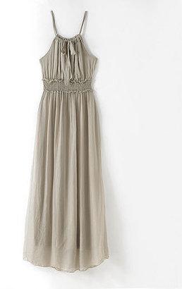 Newport News Tissue Silk Maxi Dress with Halter Neckline