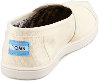 Toms Classic Canvas Slip-On, Natural, Youth