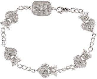 King Baby Studio - CZ Pav Crowned Heart Motif Bracelet Bracelet $435 thestylecure.com