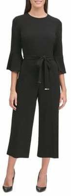 Tommy Hilfiger Bell-Sleeve Cropped Jumpsuit