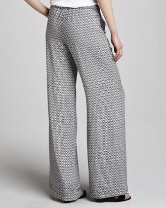 Ella Moss Izabella Printed Wide-Leg Pants