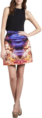 McQ by Alexander McQueen Printed Structured Skirt