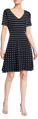 Milly Popcorn Textured Flare Dress