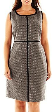 JCPenney 9 & Co.® Sleeveless Piped Dress - Plus