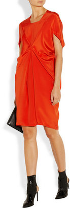 Zero Maria Cornejo Square draped silk-crepe dress