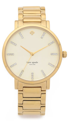 Kate Spade Gramercy Grand Watch With Crystal Markers