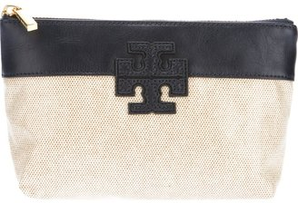 Tory Burch 'T' stacked slouchy cosmetics case
