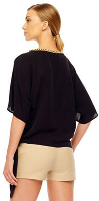 MICHAEL Michael Kors Chain-Neck Tie-Hem Top, Women's