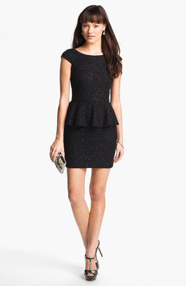 Adrianna Papell Crinkled Jersey Peplum Dress (Online Exclusive)