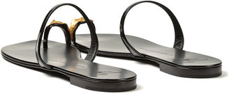 Giuseppe Zanotti Leaf Toe Ring Sandal