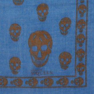 Alexander McQueen Classic Silk Blend Skull Scarf