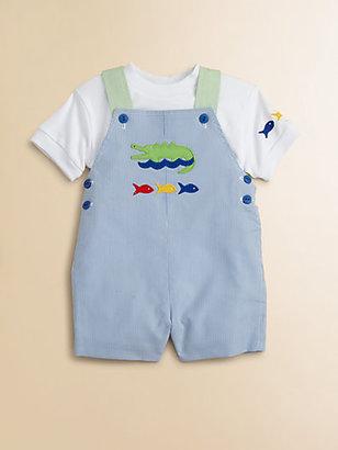 Florence Eiseman Infant's Alligator & Fish Shortall