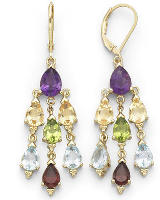 JCPenney FINE JEWELRY Genuine Multi-Gemstone Chandelier Earrings