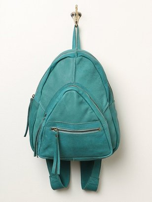 Free People Cut N' Paste Sunday Leather Backpack