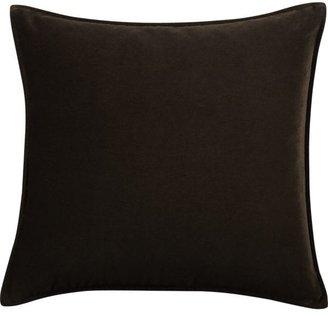 "Crate & Barrel Tempo Velvet Chocolate 20"" sq. Pillow"