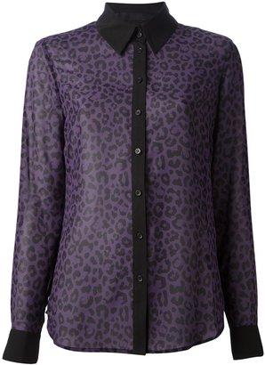 Karl Lagerfeld leopard print blouse