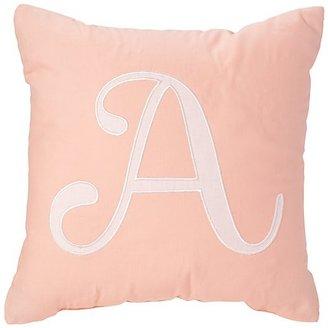 'A' Typeset Throw Pillow $24 thestylecure.com