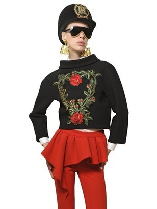 Moschino Embroidered Heavy Crepe Jacket