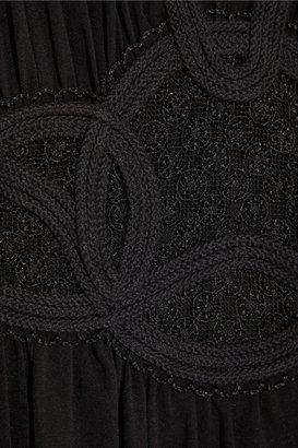La Perla Symphony Rock stretch-silk crepe maxi dress