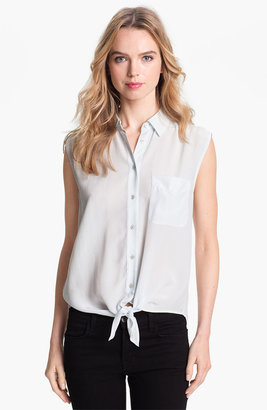Equipment 'Diem' Tie Front Sleeveless Silk Blouse