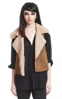 Tracy Reese Fur Vest (praline Shearling)
