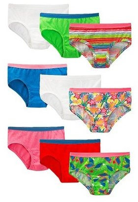 Fruit of the Loom Girls' 9-pack Low-Rise Brief Underwear - Assorted Colors