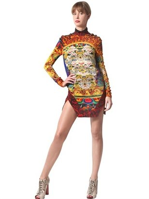 Just Cavalli Mandala Print Crepe Dress