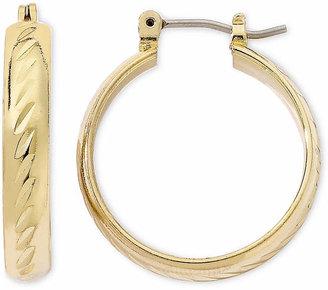 MONET JEWELRY Monet Gold-Tone Small Oval Hoop Earrings