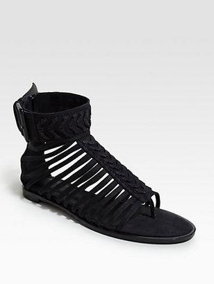 Haider Ackermann Woven Leather Sandals