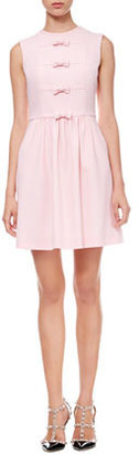RED Valentino Bow-Front Crepe Dress