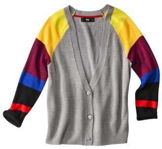 Mossimo Women's 3/4 Sleeve Color Block Cardigan Sweater