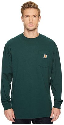 Carhartt Workwear Pocket L/S Tee (Black) Men's Long Sleeve Pullover
