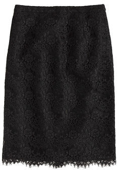 J.Crew Collection pencil skirt in scalloped lace