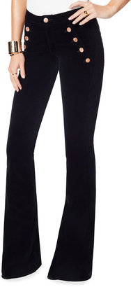 Ramy Brook Helena High-Rise Velveteen Flare Pants