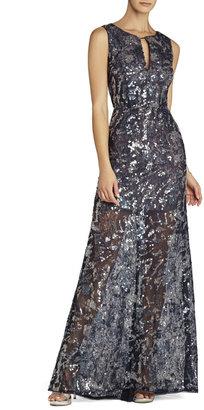 BCBGMAXAZRIA Hana Sleeveless V-Neck Gown