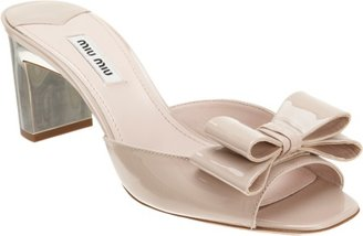 Miu Miu Double Bow Mule Sale up to 60% off at Barneyswarehouse.com