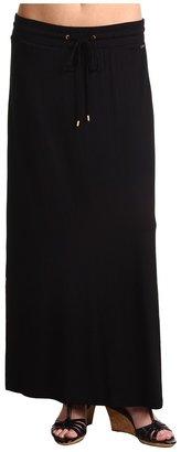 Calvin Klein Knit Maxi Skirt (Black) - Apparel
