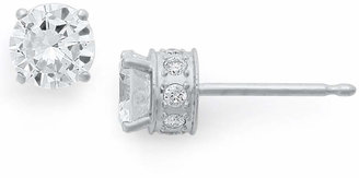 Macy's Diamond Filigree Stud Earrings in 14k White Gold (1 ct. t.w.)