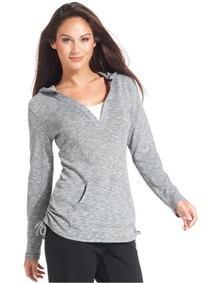 Style&Co. Sport Jacket, Long-Sleeve Ruched Active Hoodie
