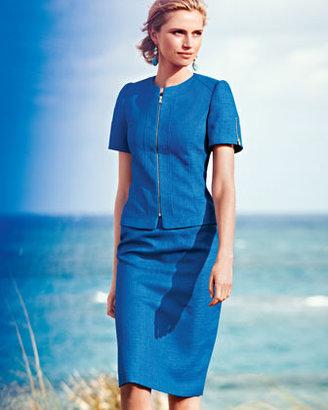 Tahari Short-Sleeve Skirt Suit