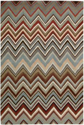 Nourison Chevron High-Low Carved Rectangular Rug