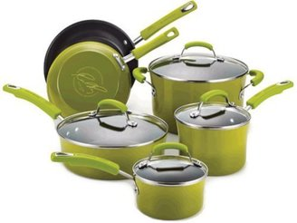 Rachael Ray 10-pc. Nonstick Porcelain Enamel II Cookware Set, Green Gradient